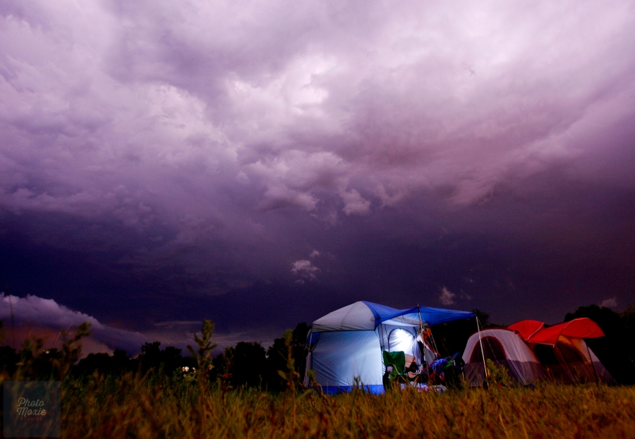 Photo zen can also occur after a storm, among tenting high schoolers, and under a lovely cloudy sky.