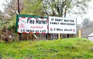 "The flea market was closed. But I was amused at the name of ""It Don't Matter Family Restaurant."" What, exactly, doesn't matter in there? Food for thought..."