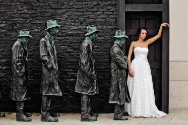 """Bread Line"" and bride."